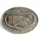 3i Show Western Kansas Garden City 1993 metal belt buckle
