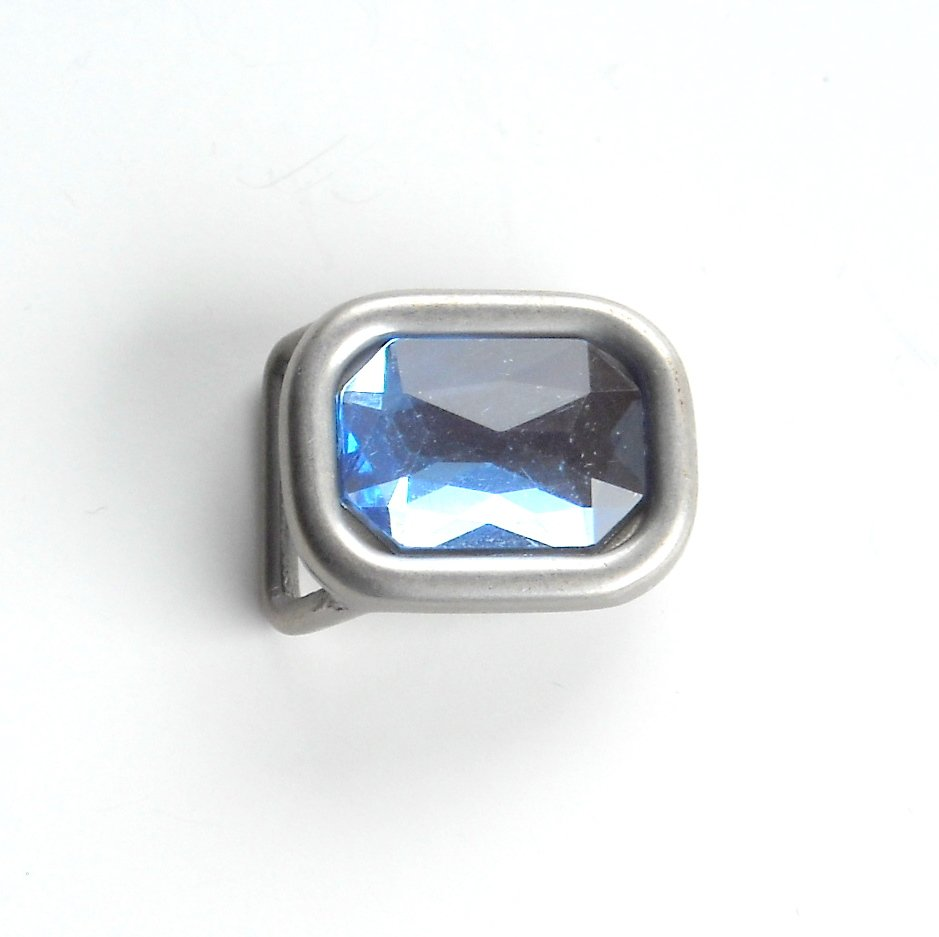Small Blue Rhinestone Western metal belt buckle