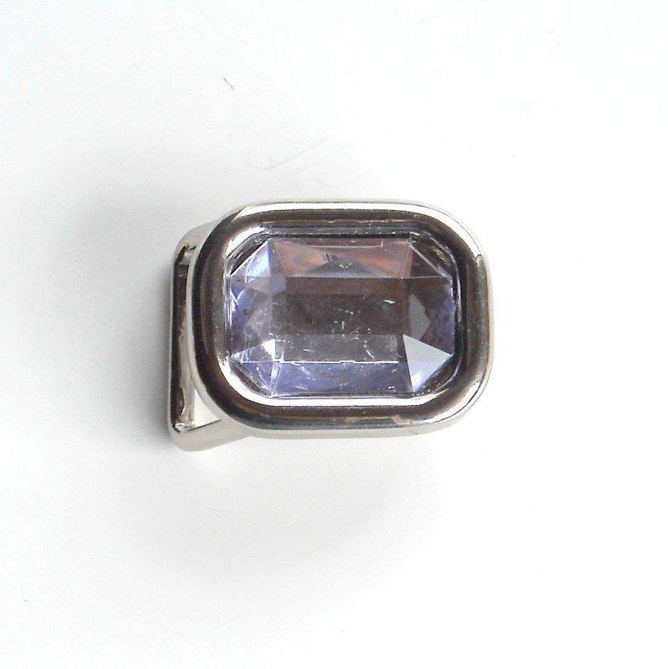 Small Clear Rhinestone Western metal belt buckle