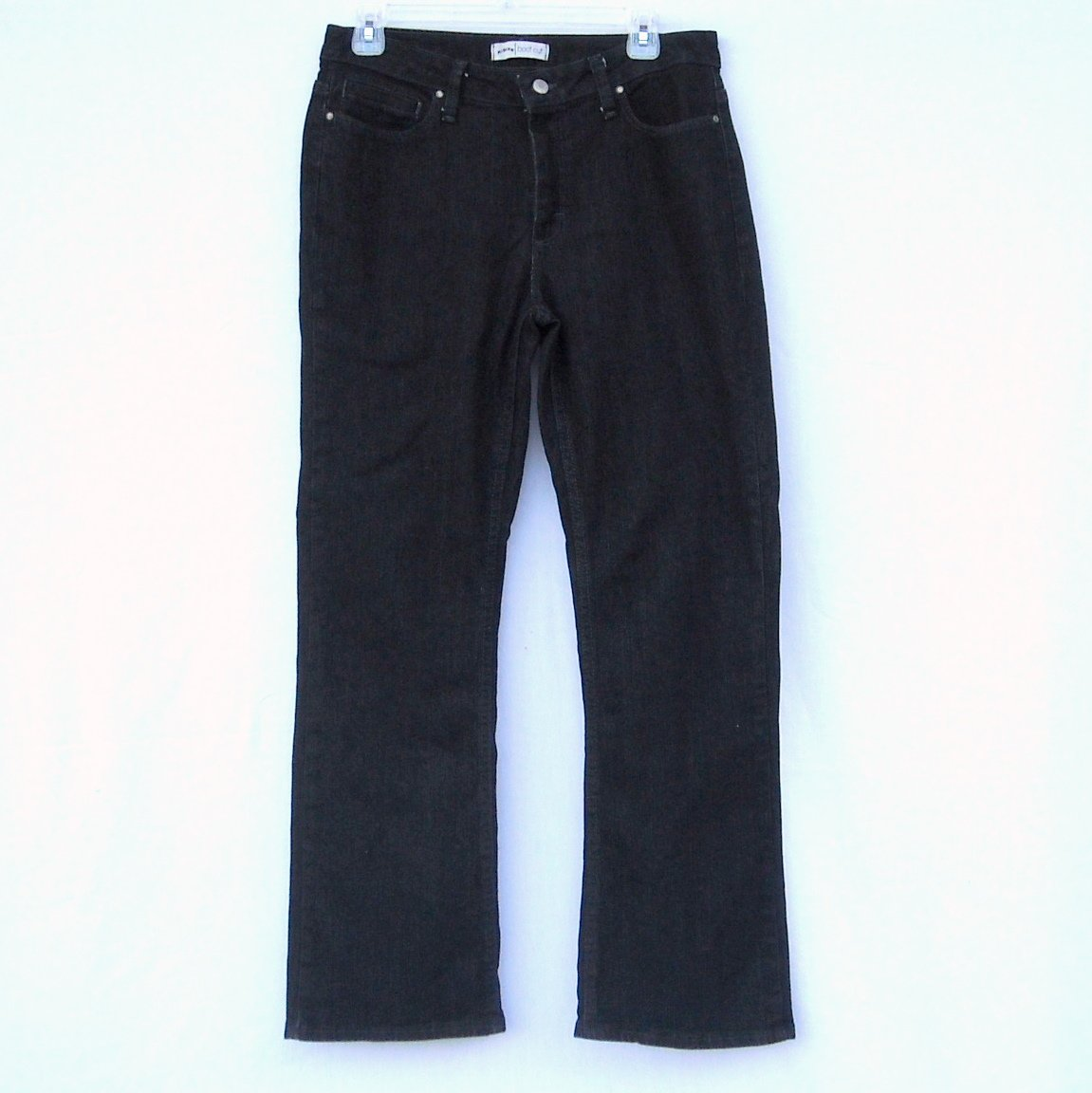 Riders Boot Cut Misses Womens Black Jeans Size 8P