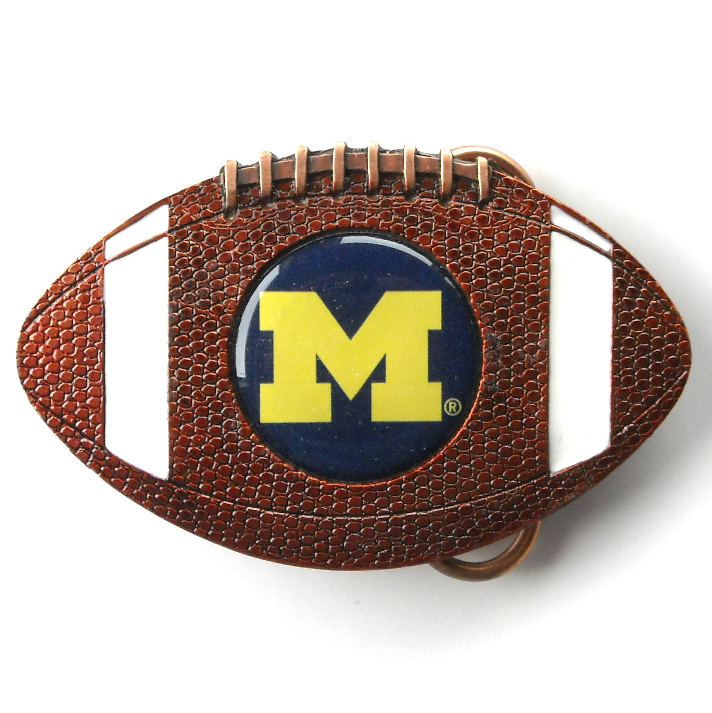 Michigan Wolverines NCAA Bergamot Belt Buckle