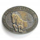 Billy Mills Running Strong For American Indian Youth Brass Belt Buckle