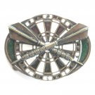 Dart Board and Darts Unisex Brass Belt Buckle