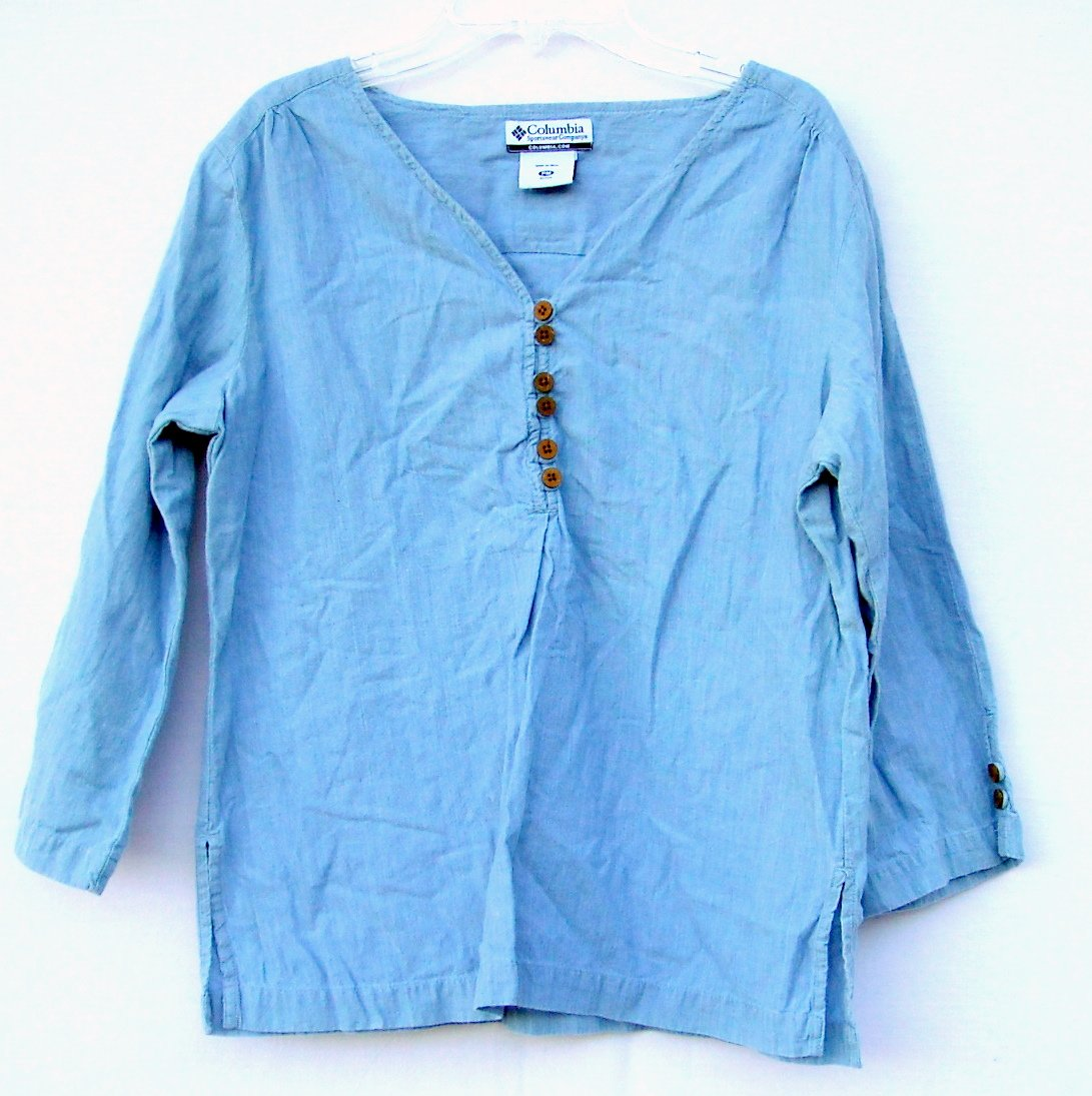 Columbia Sportswear Misses Womens Cotton Shirt Top Size PM