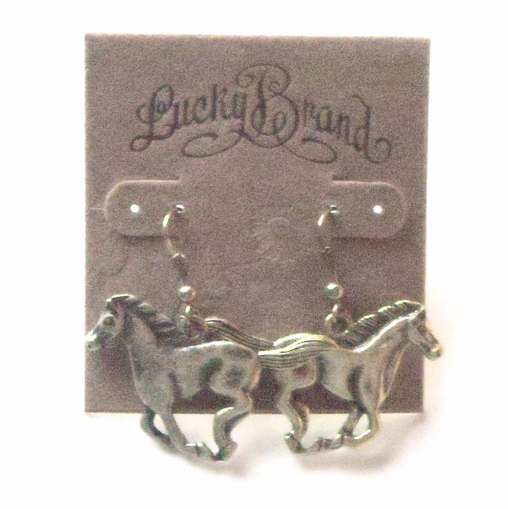Brass Tone Horses Lucky Brand Dangle Earrings