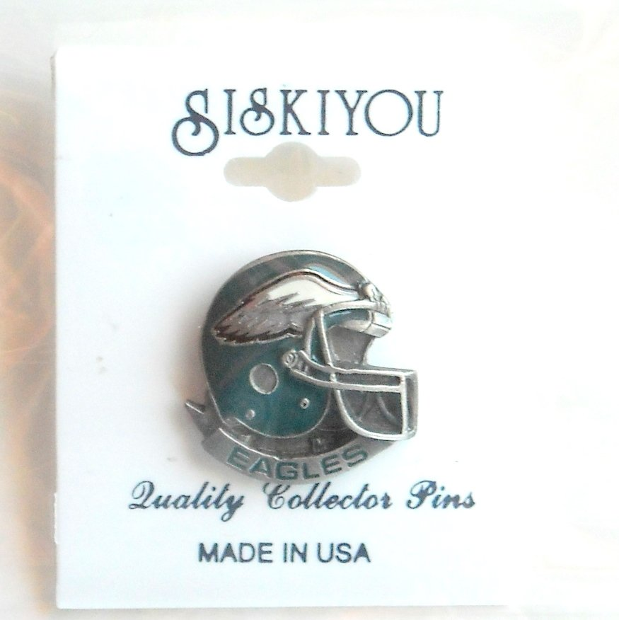 Siskiyou Philadelphia Eagles helmet pewter tie tac hat lapel pin