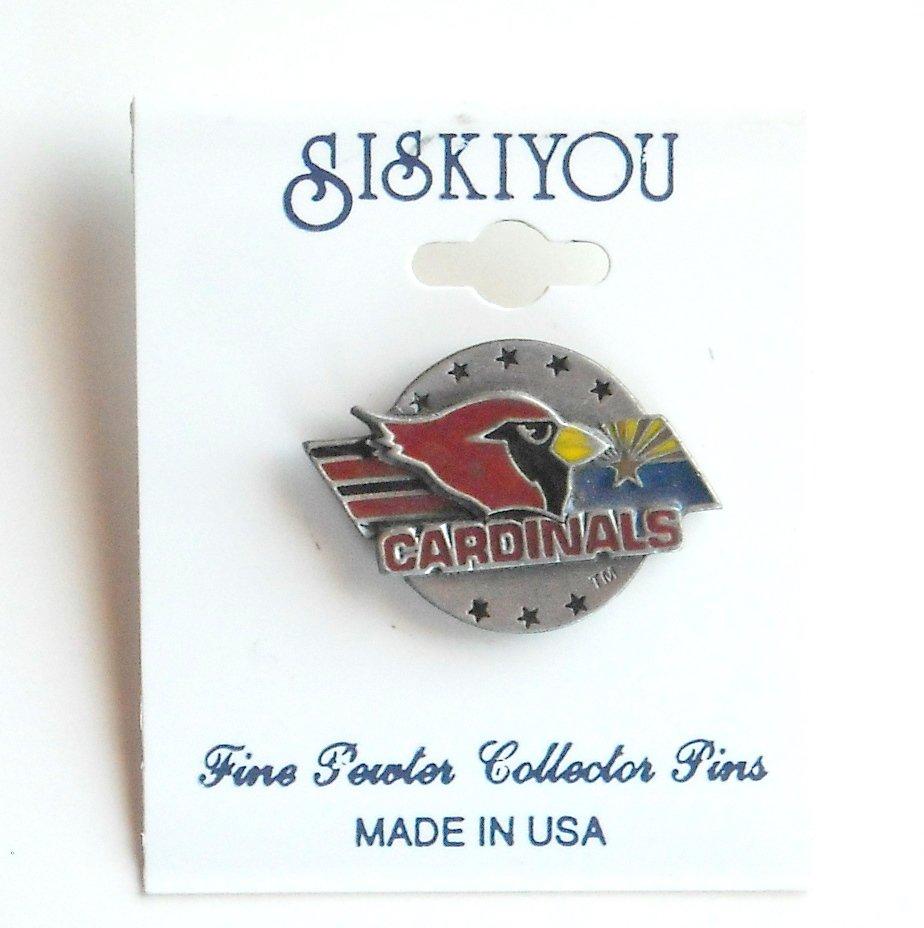 Arizona Cardinals Team Logo Siskiyou Pewter Tie Tac Hat Lapel Pin