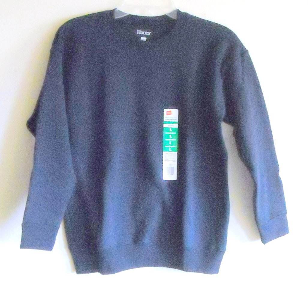 Hanes Boys Fleece Sweatshirt Sweats Navy Blue L / G 10/12