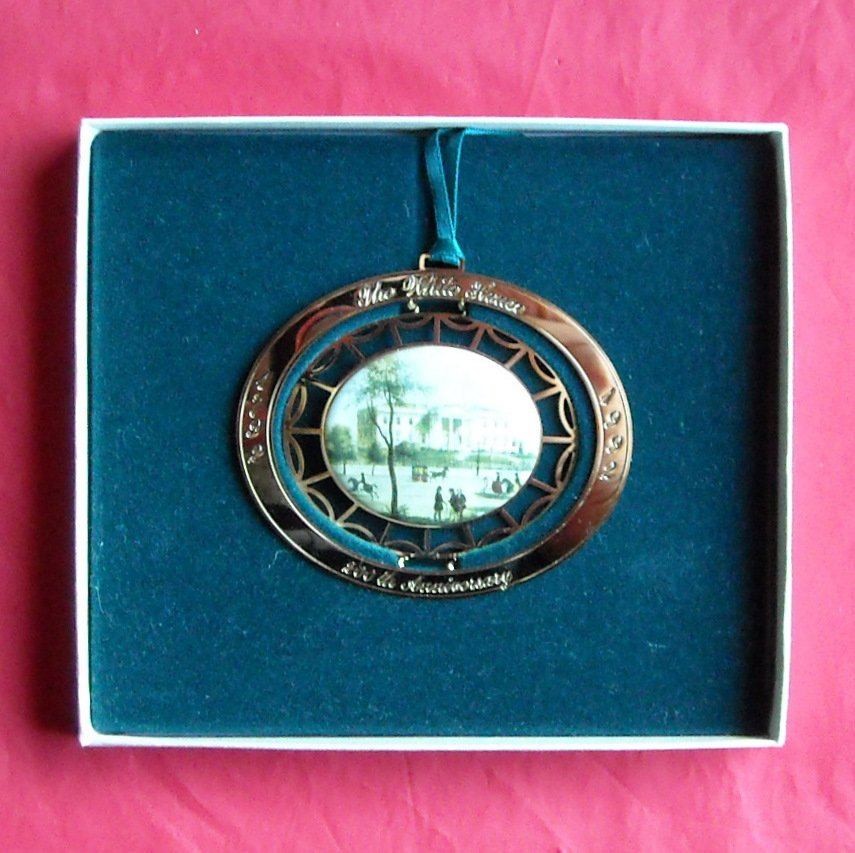 Christmas 1992 The White House Historical Association 24k Gold Finish ornament