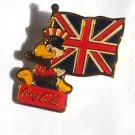 1984 Olympics XXIII Los Angeles Sam Coca Cola Great Britain flag tie tac hat lapel pin