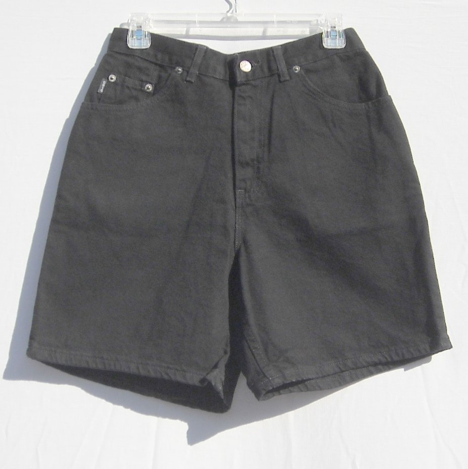 Chic Average Misses Womens Black Denim Shorts Size 8