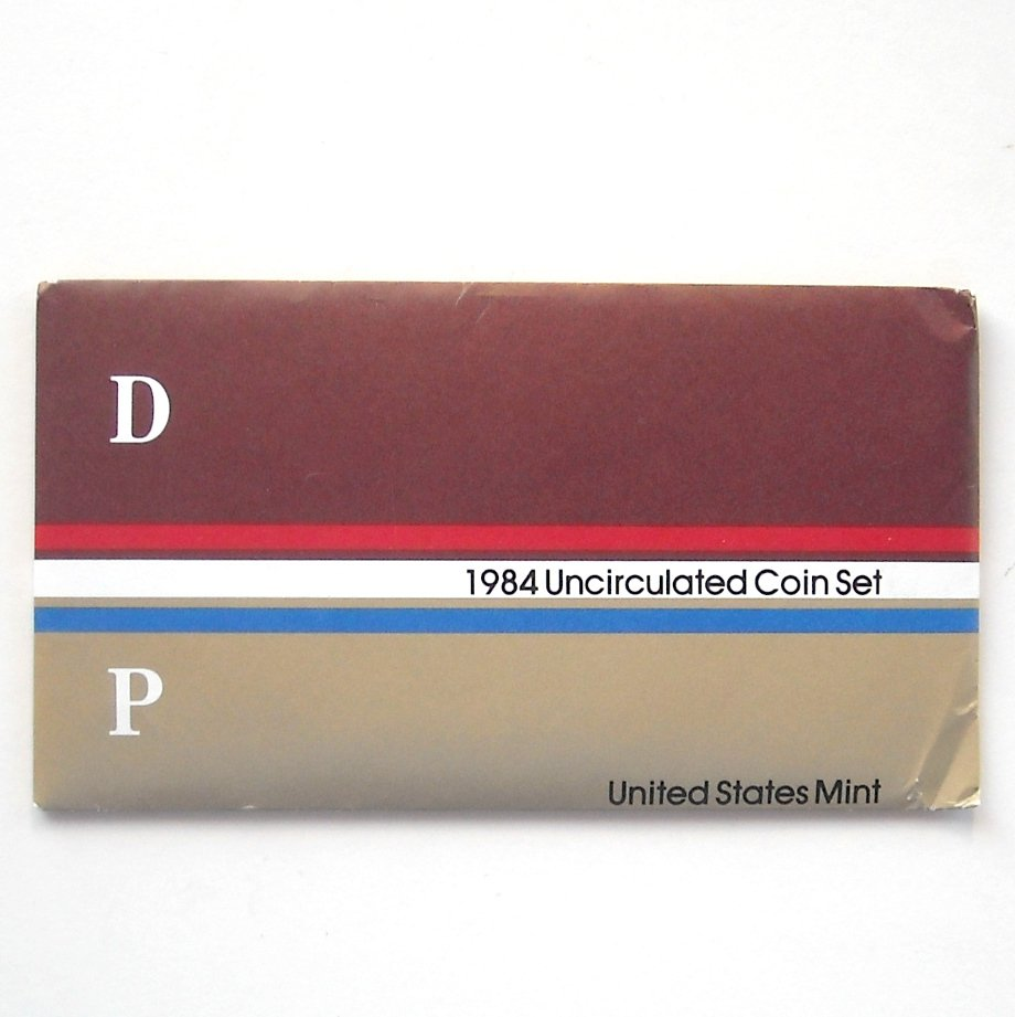 1984 Uncirculated D&P Coin set United States Mint