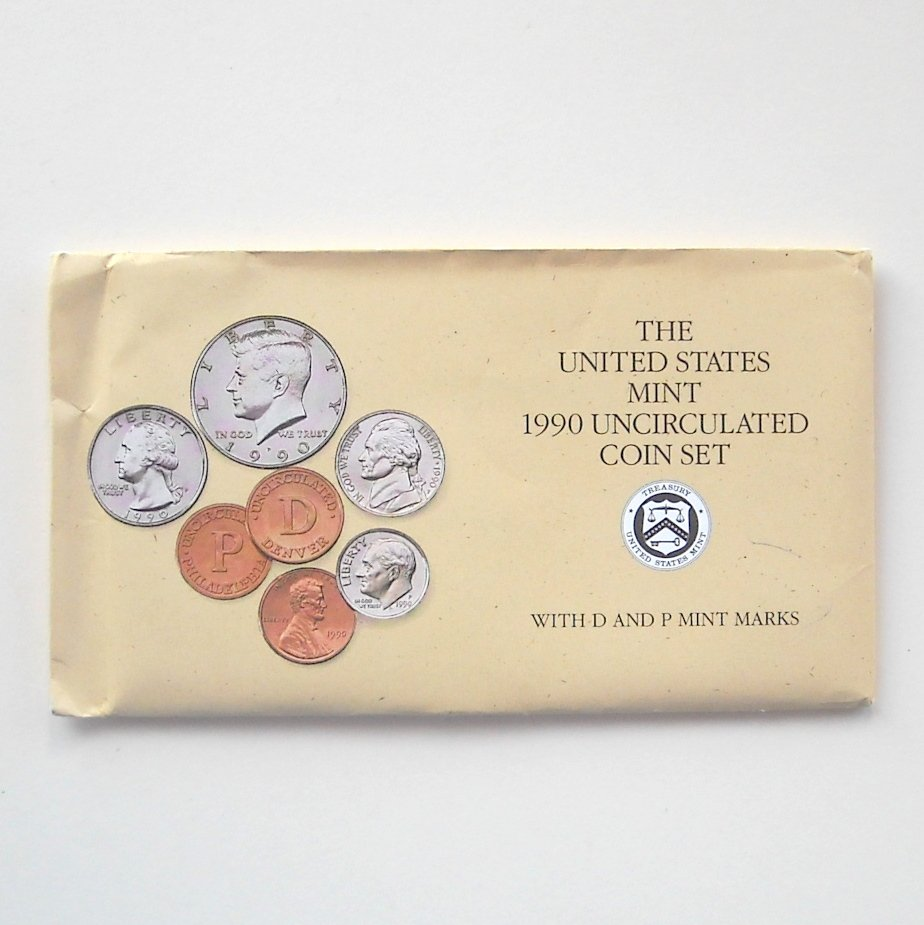 1990 Uncirculated D&P Coin set United States Mint
