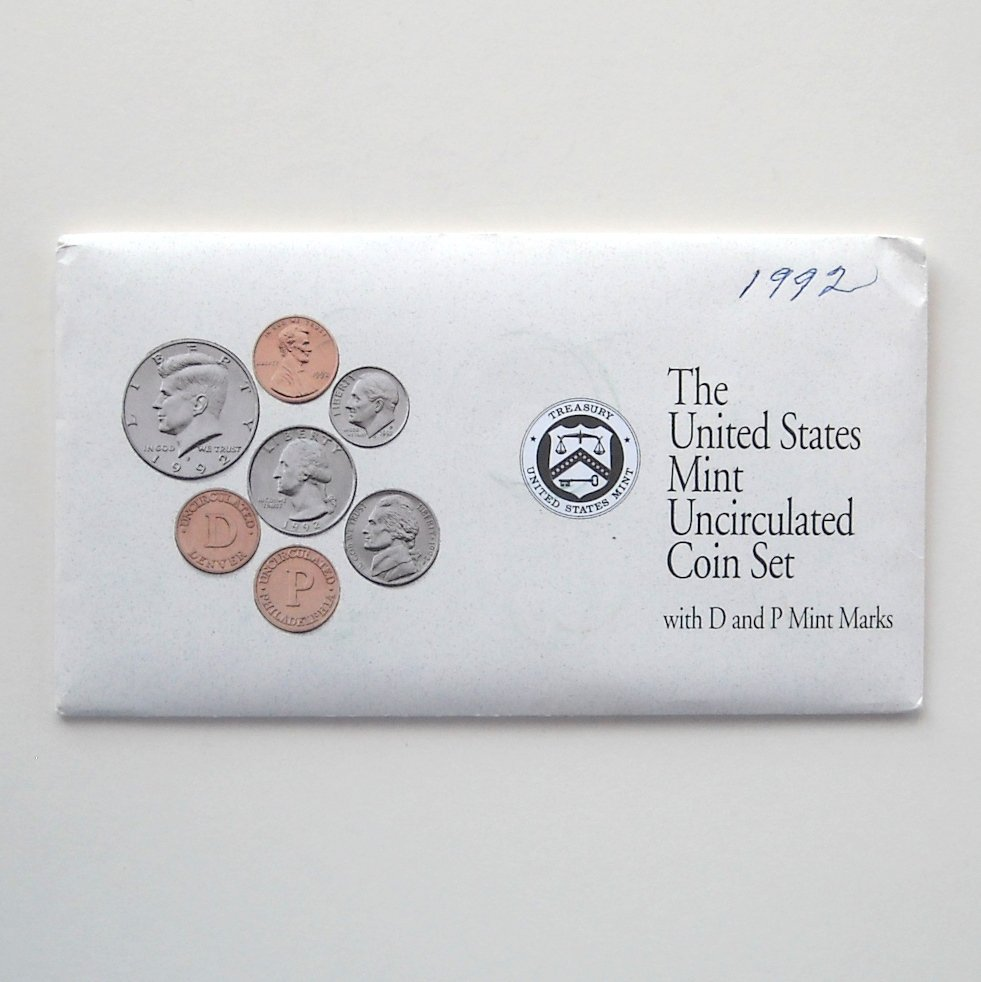 1992 Uncirculated D&P Coin set United States Mint
