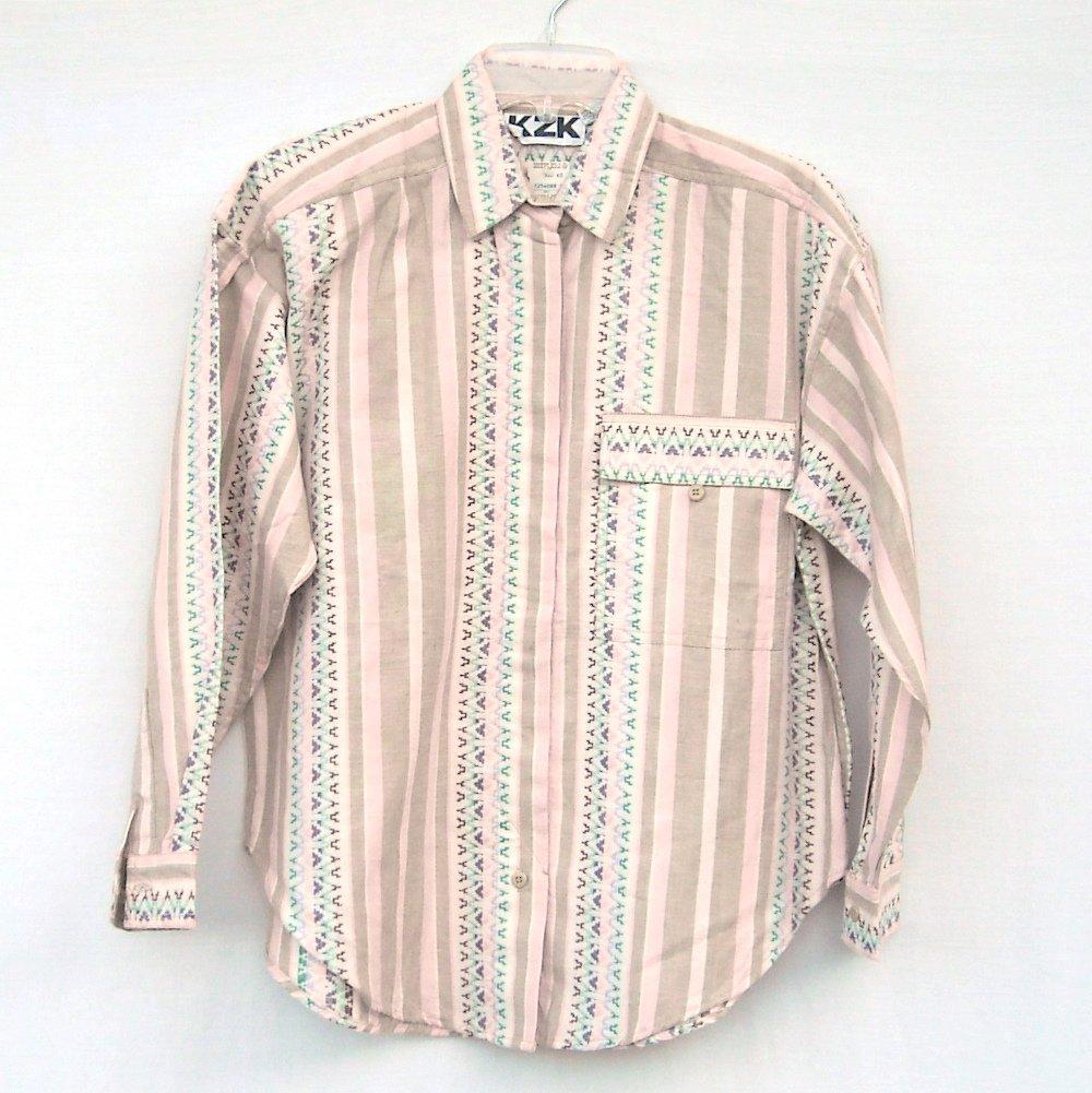 KZK Misses Womens Western Cotton Shirt Size S