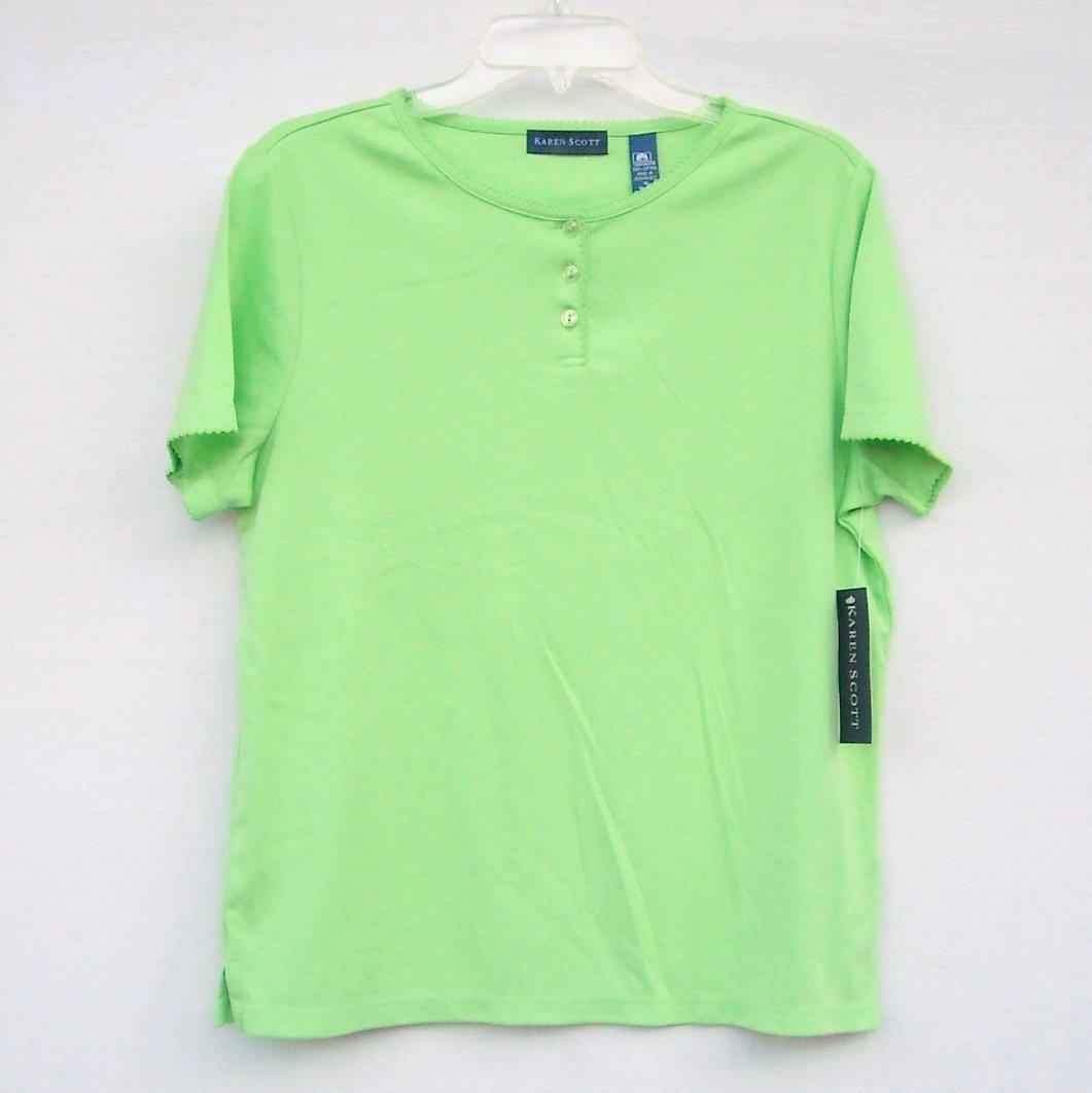 Karen Scott Womens Cotton Shirt Top Size M