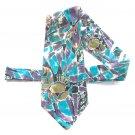 J T Beckett Vintage Art Deco Pattern Mens Necktie Tie