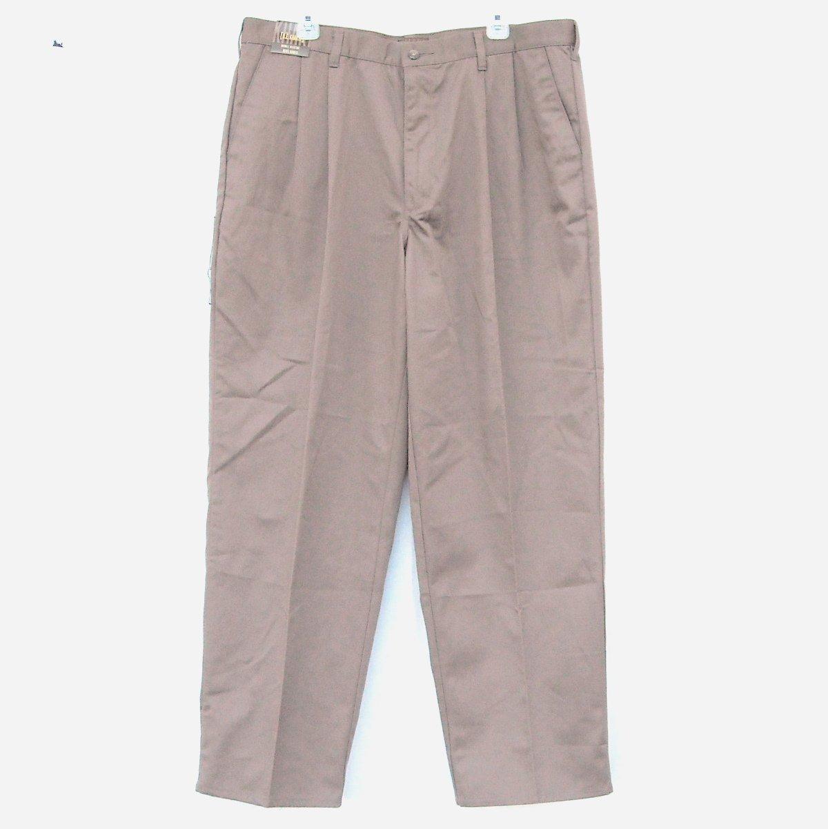 B E Khakis Mens Double Pleat Pants Size 40 x 32 NWT