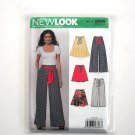 Misses Pants Skirts Simplicity New Look Sewing Pattern 6896