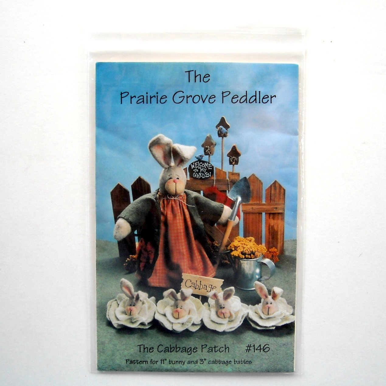 Prairie Grove Peddler 1996 The Cabbage Patch Bunny Doll Crafts Pattern # 146