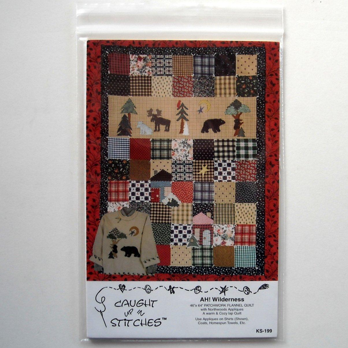 Caught Up In Stitches 1997 AH Wilderness Crafts Pattern # KS-199