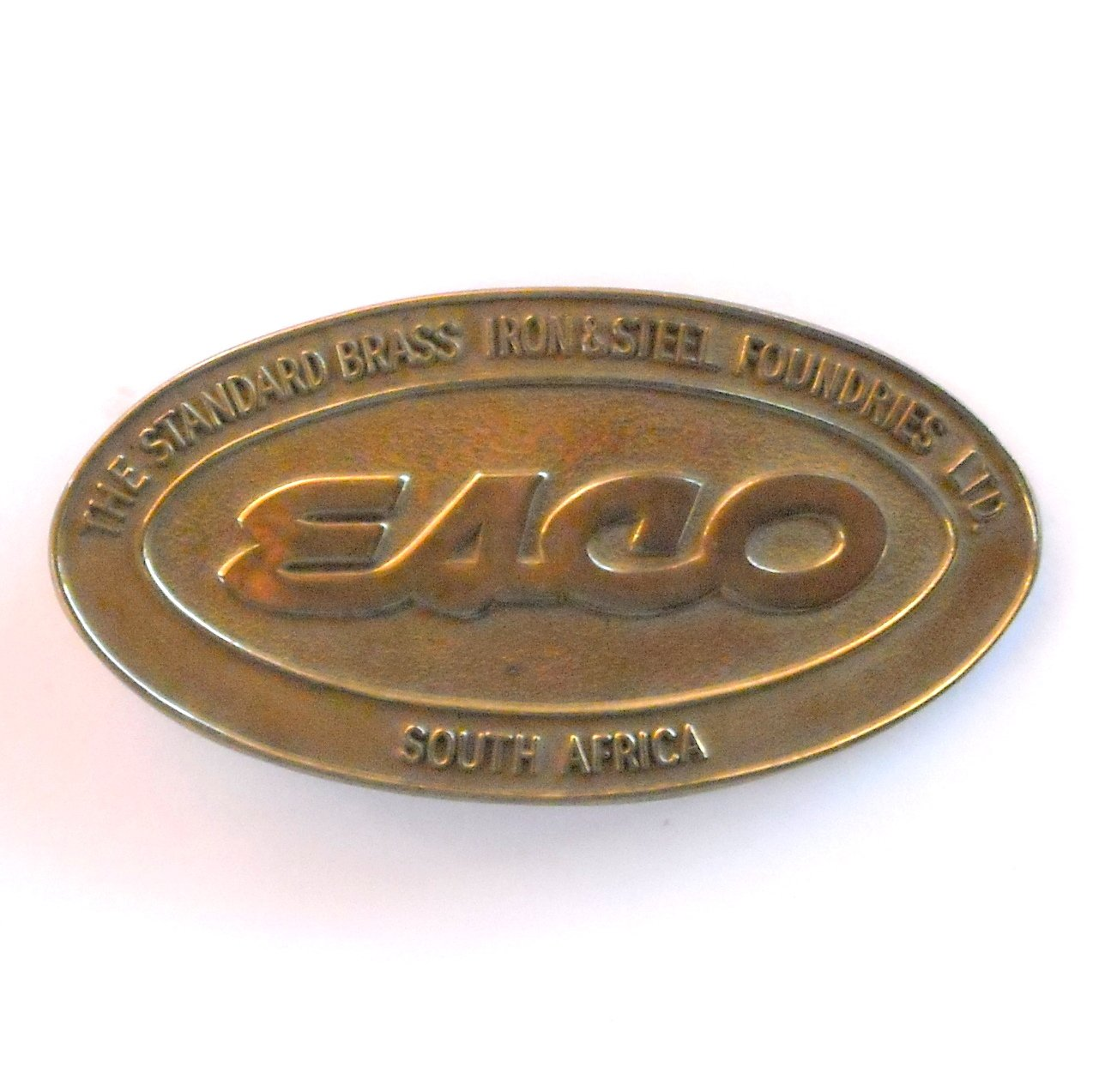 Vintage Esco South Africa Brass Belt Buckle