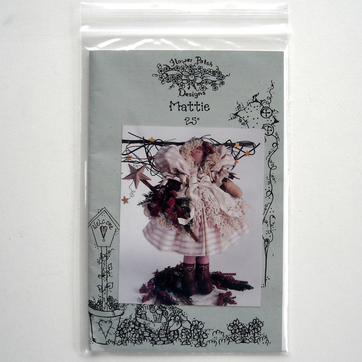 Flower Patch 1996 25 inch Mattie Doll Crafts pattern FP25