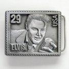 Elvis Rock N Roll Presley Stamp USA 6380 Pewter Belt Buckle