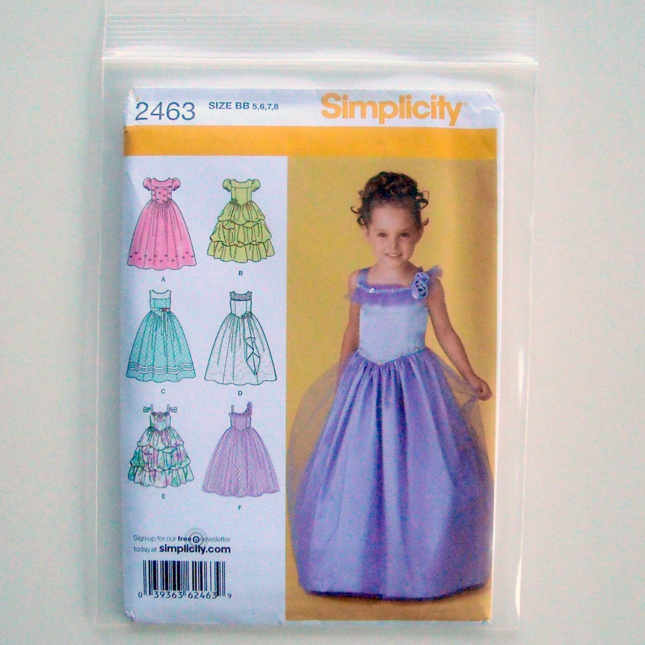 Simplicity Childs Special Occasion Dress Sewing Pattern 2463