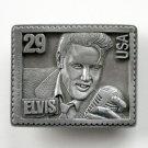 American Legends Foundry Elvis Presley Stamp USA #6395 Pewter Belt Buckle