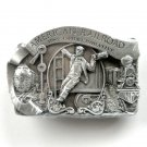 Vintage American Railroad 1982 3D Pewter alloy belt buckle