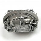 Vintage Law Enforcement 1983 3D Pewter alloy belt buckle