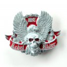 MC Flying Eagle Skull Rebel Rider Pewter alloy belt buckle
