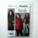 Misses Miss Petite Jackets Threads Simplicity Sewing Pattern 3628