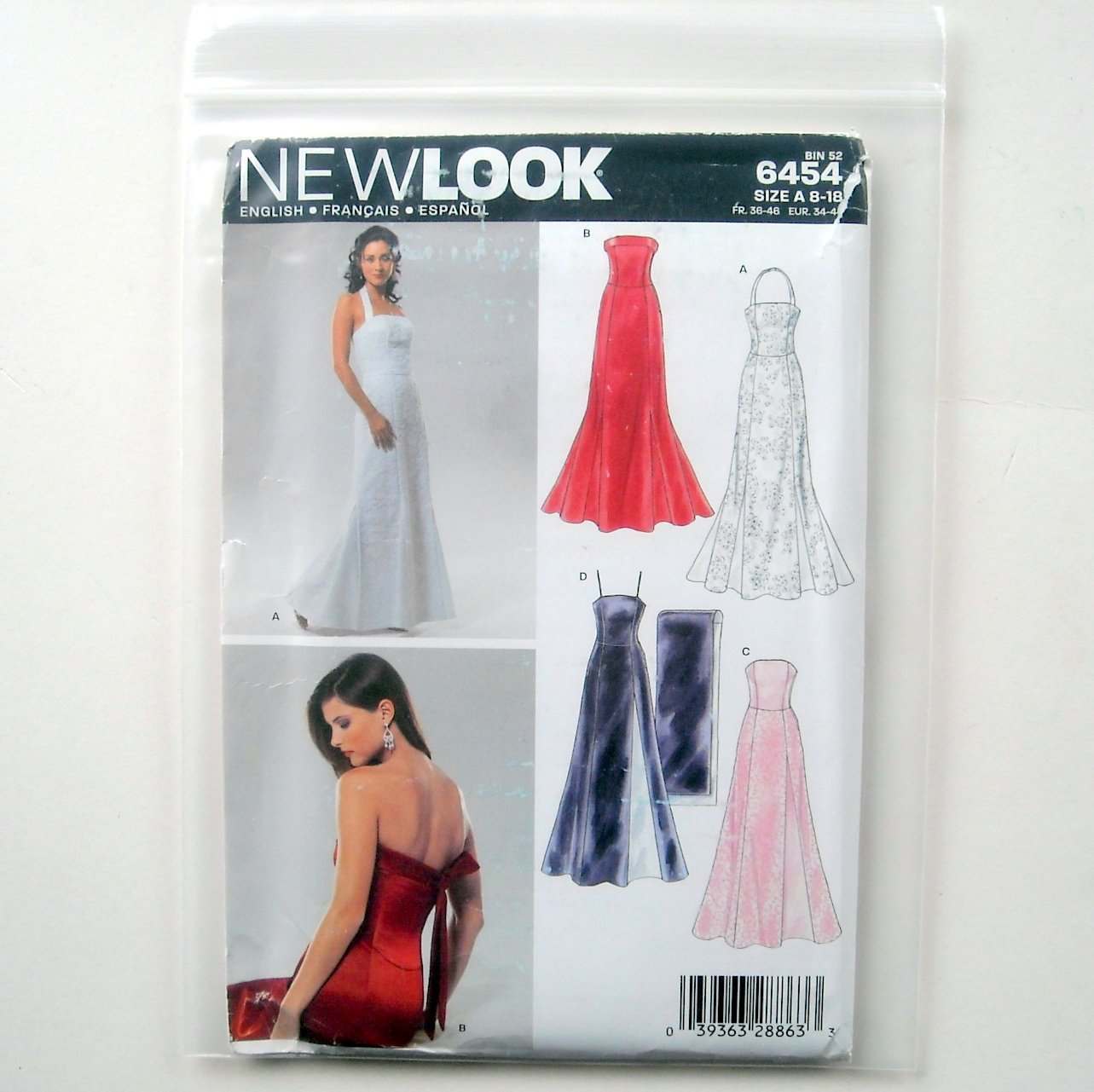 Misses Special Occasion Dresses Gowns Shawl Six Sizes In One Simplicity New Look Sewing Pattern 6454