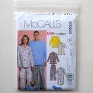 Misses Mens Teen Boys Tops Nightshirt Pants McCalls Sewing Pattern M5992