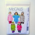 Childrens Girls Unlined Coats Hats McCalls Sewing Pattern M4961