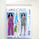 Misses Jumpsuit In 3 Lengths and Sash Size 14 - 20 McCalls Sewing Pattern M6083