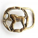 Taurus Zodiac Sign Vintage Brass Belt Buckle