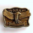 National Rifle Association NRA Golden Eagles Brass Color Belt Buckle