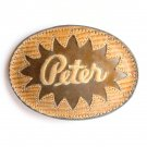 Tony Lama PETER Embroidered Leather Belt Buckle