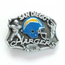 San Diego Chargers 3D Vintage NFL Siskiyou Pewter Belt Buckle