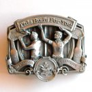 This Bud For You American Carpenter Anheuser Busch Vintage Bergamot Pewter Belt Buckle
