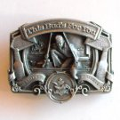 American Fisherman This Bud For You Anheuser Busch Pewter Belt Buckle