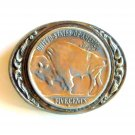 Large Five Cents Coin United States belt buckle