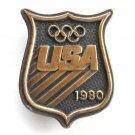 USA 1980 Olympic Games Vintage Bergamot Belt Buckle