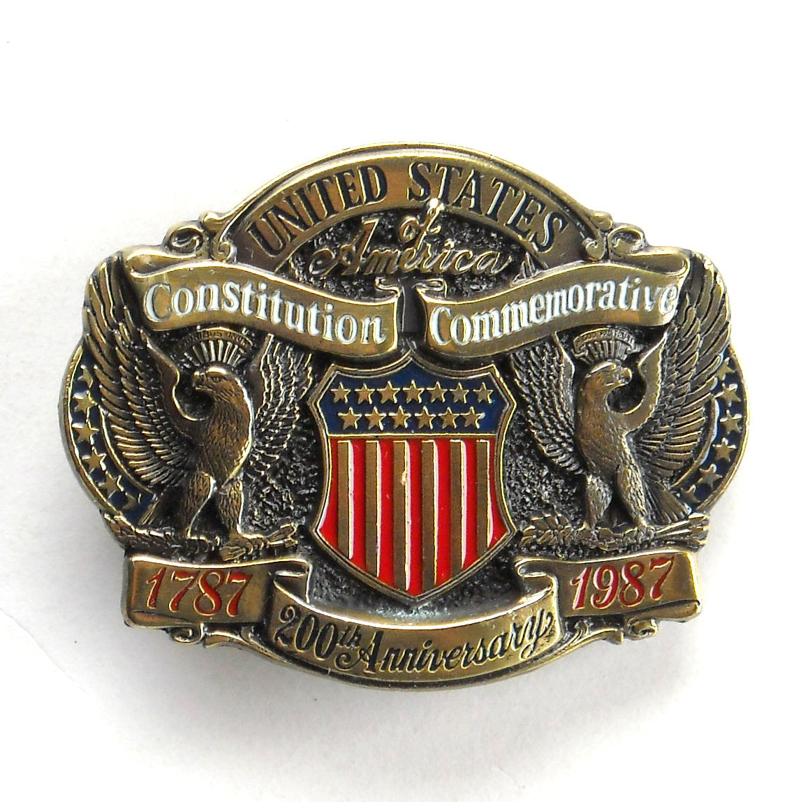 USA 200 Anniversary Constitution Vintage Limited Edition No 61818 belt buckle