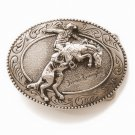 Frederic Remington The Bronco Buster Vintage Belt Buckle