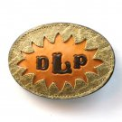 DLP Embossed Tony Lama Brown Leather Belt Buckle