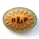DLP Embossed Tony Lama Brown Leather Belt Buckle